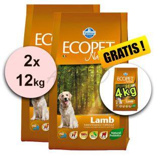Farmina MO P ECOPET N dog LAMB MINI 2 x 12 kg + 4 kg ZADARMO