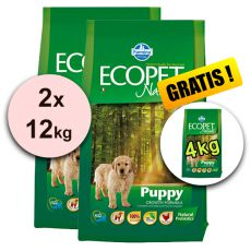 Farmina MO P ECOPET N dog PUPPY mini 2 x 12 kg + 4kg GRATIS