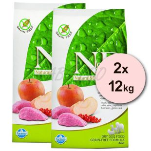 Farmina N&D dog GF ADULT  Boar & Apple 2 x 12 kg