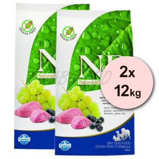 Farmina N&D dog GF ADULT MAXI Lamb & Blueberry 2 x 12 kg