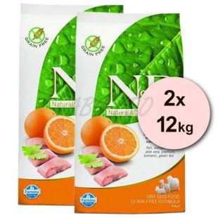 Farmina N&D dog GF ADULT MAXI Fish & Orange 2 x 12 kg