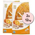 Farmina N&D dog LG ADULT Codfish & Orange 2 x 12 kg