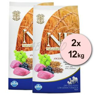 Farmina N&D dog LG ADULT MINI Lamb & Blueberry 2 x 12 kg
