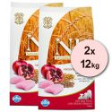 Farmina N&D dog LG PUPPY MEDIUM Chicken & Pomegranate 2 x 12 kg