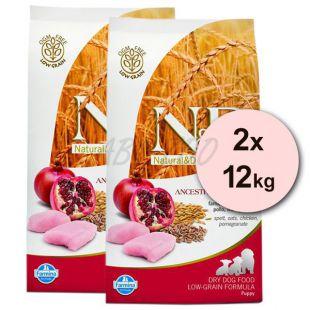 Farmina N&D dog LG PUPPY Chicken & Pomegranate 2 x 12 kg