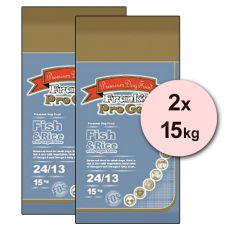 Frank´s Pro Gold Fish and Rice 24/13 so zeleninou - 2 x 15kg