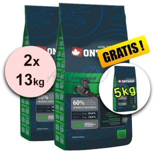 Ontario Junior Large 2 x 13 kg + 5 kg GRATIS