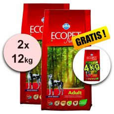 Farmina MO P ECOPET N dog ADULT MAXI 2 x 12 kg + 4 kg GRATIS
