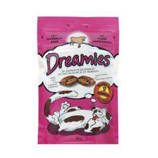 Pamlsky pre mačky - DREAMIES vankúšiky s hovädzím mäsom, 60g