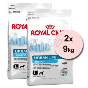 ROYAL CANIN URBAN LIFE JUNIOR LARGE DOG 2 x 9kg