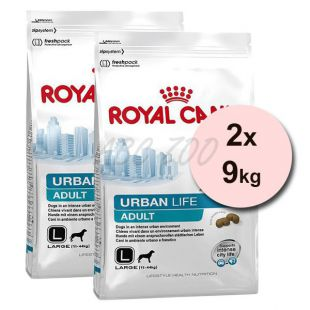 ROYAL CANIN URBAN LIFE ADULT LARGE DOG 2 x 9kg