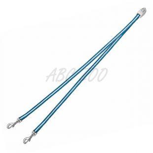 Flexi Vario Duo Belt S - rozdvojka pre dvoch psov, modrá