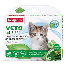 Kvapky proti hmyzu pre mačiatka, prírodné - 3 ks