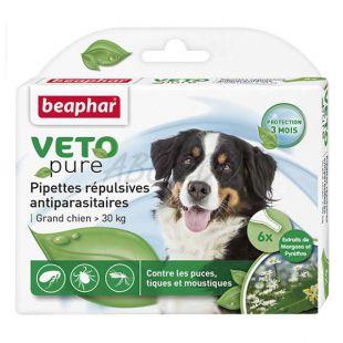 Kvapky proti hmyzu pre veľkých psov, prírodné - 6 ks