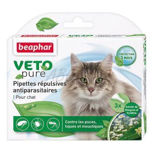 Kvapky proti hmyzu pre mačky, prírodné - 3 ks