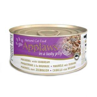 Applaws Cat Jelly - konzerva pre mačky s makrelou a pražmou, 70g