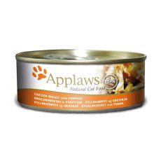 Applaws Cat - konzerva pre mačky s kuraťom a tekvicou, 70g