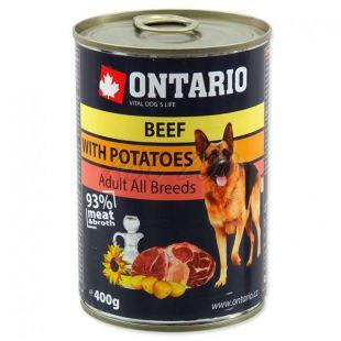 Konzerva ONTARIO pre psa, hovädzie, zemiaky a olej - 400g