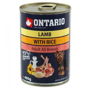 Konzerva ONTARIO pre psa, jahňacie, ryža a olej - 400g