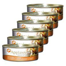 Applaws Cat - konzerva pre mačky s kuraťom a tekvicou, 6 x 70g