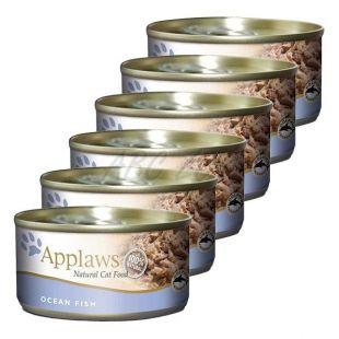 Applaws Cat - konzerva pre mačky s morskými rybami, 6 x 70g