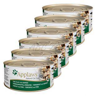 Applaws Cat - konzerva pre mačky s tuniakom a morskými riasami, 6 x 70g