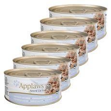 Applaws Cat - konzerva pre mačky s tuniakom a syrom, 6 x 70g