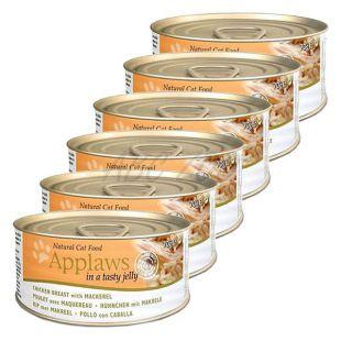 Applaws Cat Jelly - konzerva pre mačky s kuraťom a makrelou, 6 x 70g