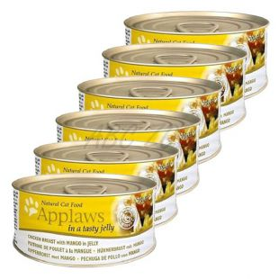 Applaws Cat Jelly - konzerva pre mačky s kuraťom a mangom, 6 x 70g