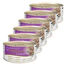 Applaws Cat Jelly - konzerva pre mačky s makrelou a pražmou, 6 x 70g