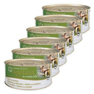 Applaws Cat Jelly - konzerva pre mačky s tuniakom a morskými riasami, 6 x 70g