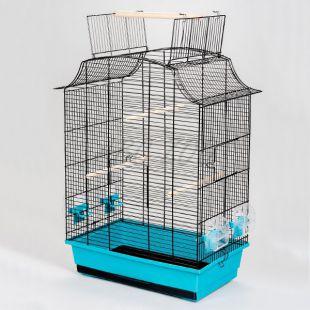 Klietka pre papagáje GRETA CABRIO čierna - 49 x 30 x 65 cm