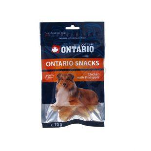 Kuracie mäso s ananásom - pamlsky pre psa ONTARIO, 70 g