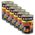 Konzerva ONTARIO pre psa, hovädzie, zemiaky a olej - 6x400g