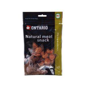 Kuracie mäso s ryžou - pamlsky pre psa ONTARIO, 70 g