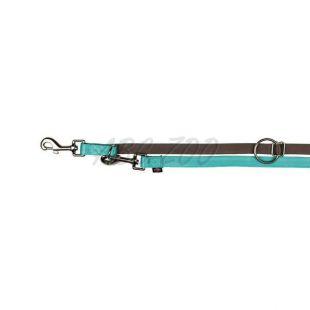 Vodítko pre psy tyrkysovej farby, nastaviteľné - 2 m, XS/S
