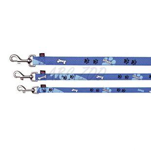 Vodítko pre psa, modré so vzorom, M/L - 1m