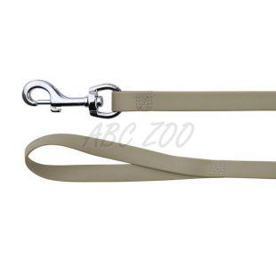 Vodítko pre psy z PVC - tmavošedé 1 m / 17 mm