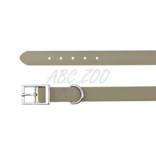 Obojok pre psy z PVC - tmavošedý S, 27 - 35 cm