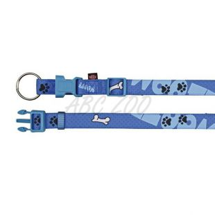 Obojok pre psa, fialový so vzorom - S/M, 30-45cm