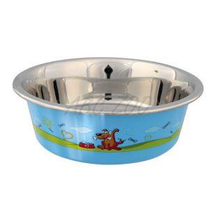 Nerezová miska pre psa, protišmyková - 0,4 L
