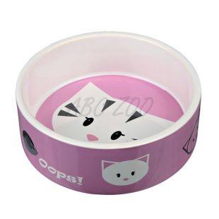 Keramická miska pre mačky s motívom - 0,3 L