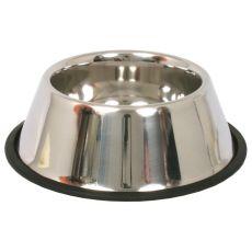 Miska pre psy s dlhými ušami - nerezová, protišmyková - 0,9l/16cm