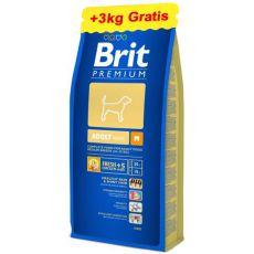 Brit Premium Adult Medium 15kg + 3kg GRATIS