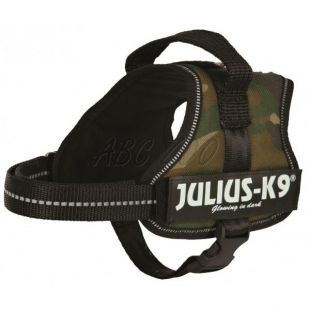 Silový postroj pre psy Julius K9 - maskáčový, M/51-67cm