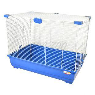 Klietka pre škrečka a myš RENE 62, modrobéžová - 62 x 37 x 42cm