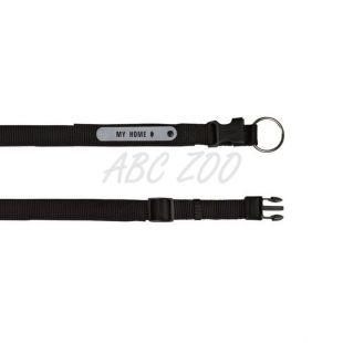 Obojok pre psov - nylonový čierny, 50 - 55 cm