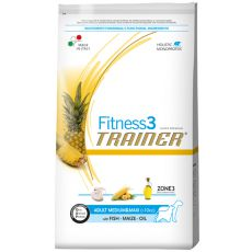 Trainer Fitness3 Adult MEDIUM & MAXI - ryba a kukurica 12,5kg