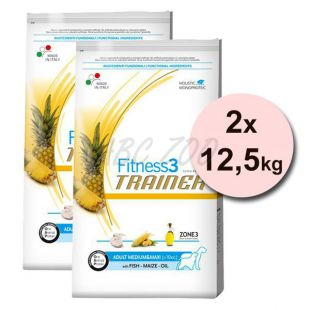 Trainer Fitness3 Adult MEDIUM & MAXI - ryba a kukurica 2 x 12,5kg