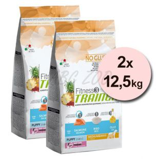 Trainer Fitness3 Puppy & Junior MEDIUM MAXI - fish and rice 2 x 12,5kg